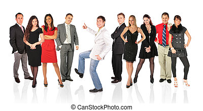 ok, gens, collage, jeune, autre, homme, geste, heureux