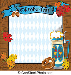 oktoberfest, fête, invitation