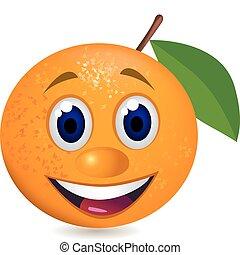 orange, dessin animé