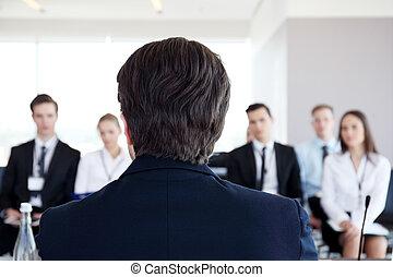 orateur, conférence, business