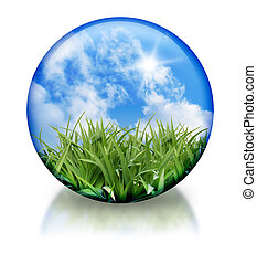 organique, orbe, icône, cercle, nature