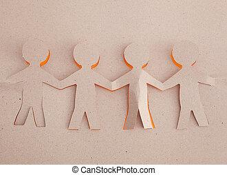 origami, humain