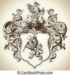 orné, héraldique, emblème