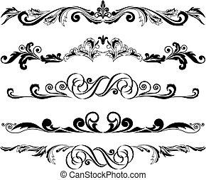ornements, 2, horizontal, ensemble