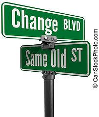 ou, même, vieux, rue, décision, choisir, changement
