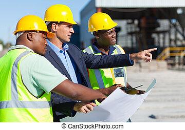 ouvriers, construction, architecte