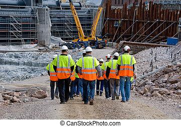 ouvriers, construction
