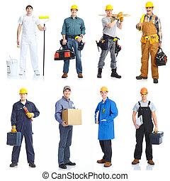ouvriers, gens., entrepreneurs