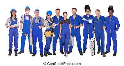 ouvriers, industriel, groupe