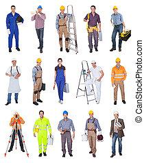 ouvriers industriels, construction