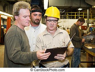 ouvriers, usine, audit, interne