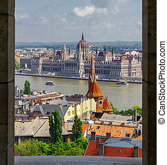 pêcheur, bastion, budapest, parlement, hongrois