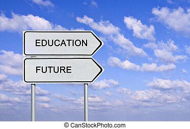 panneaux signalisations, education, avenir