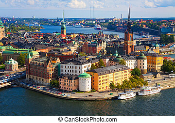 panorama, stockholm, suède