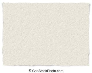 papier, bords, effilocher, texture