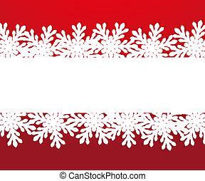 papier, flocons neige, bannière