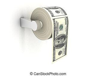 papier hygiénique, coûteux