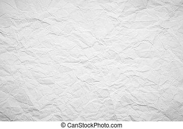 papier, texture., sheet., blanc