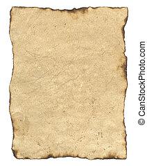 papier, vieux, parchemin
