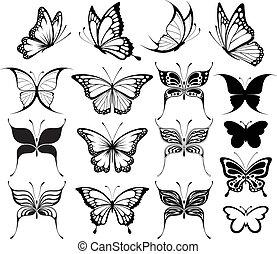 papillon, clipart