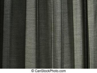 par, rideau, gris, lumière soleil