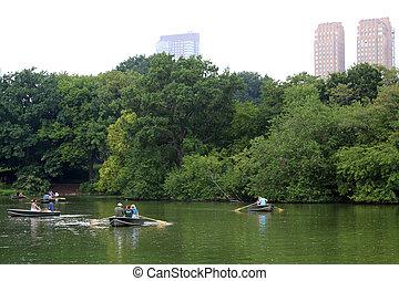 parc, central, york, nouveau, gens