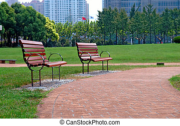 parc ville, manière, promenade