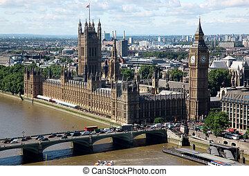 parlement, ben, maison, royaume-uni, grand, londres