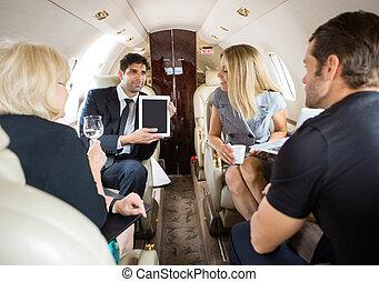 partenaires, privé, réunion, jet, business
