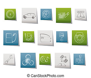 parties, voiture, services, caractéristique
