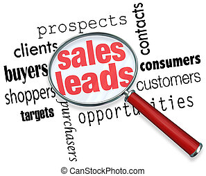 pattes, perspectives, vente, clients, recherche, ventes, occasions, regarder verre, mots, sous, conclusion, nouveau, magnifier, illustrer