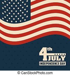 pavillon états uni, 4ème juillet, amérique, jour, indépendance