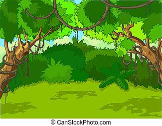paysage, forêt, exotique