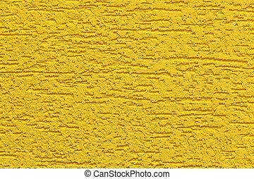 peint, grand, mur, texture, jaune