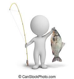 petit, -, 3d, pêcheur, gens