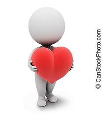 petit, people-heart, 3d
