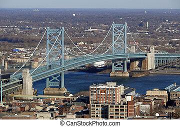 philadelphia's, ben franklin pont