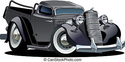 pick-up, vecteur, retro, dessin animé