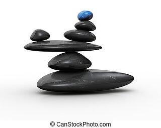 pierre, équilibre