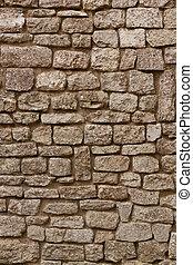pierre, vieux, mur, texture