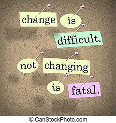 planche, mots, pas, changer, mortel, bulletin, changement, difficile
