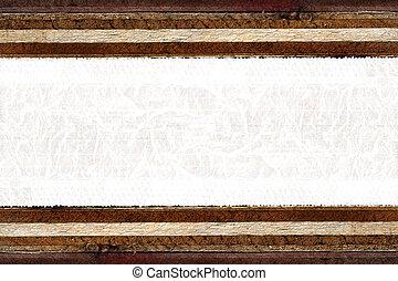plywood., blanc, morceau, espace