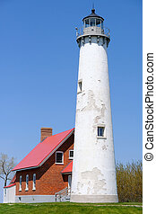 point, tawas, phare, construit, 1876
