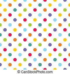 points, modèle, coloré, vecteur, polka