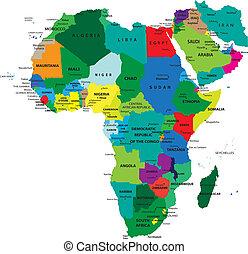 politique, carte, afrique