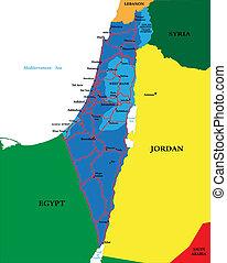 politique, carte, israël