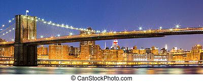 pont, brooklyn, york, nouveau