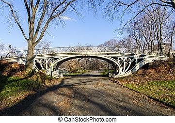 pont, central, york, nouveau, parc