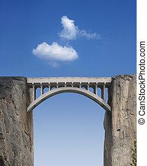 pont, ciel