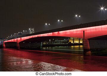 pont, londres, nuit